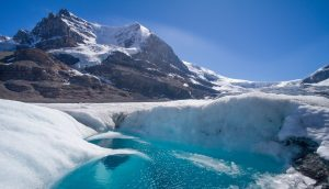 Mount Andromeda Columbia Icefield meltwater Athabasca Glacier